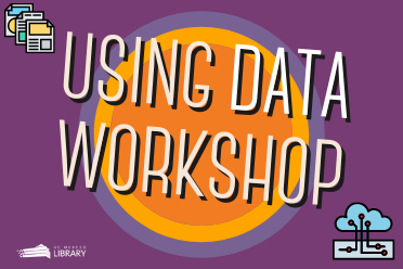 Using Data Workshop image: Using Data Workshop in front of a purple and orange background